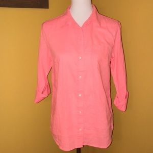 2/$35 GAP coral button down shirt